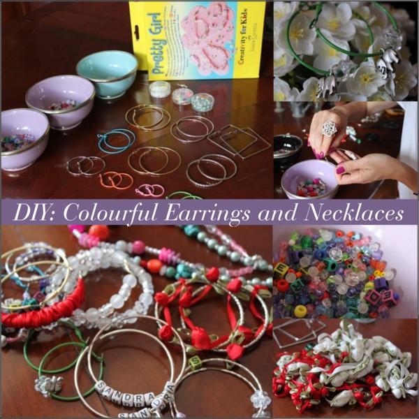 DIY Colourful Earrings and Necklaces