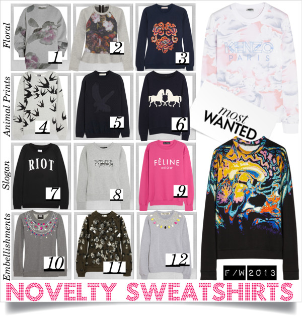 Novelty Sweatshirts FW2013