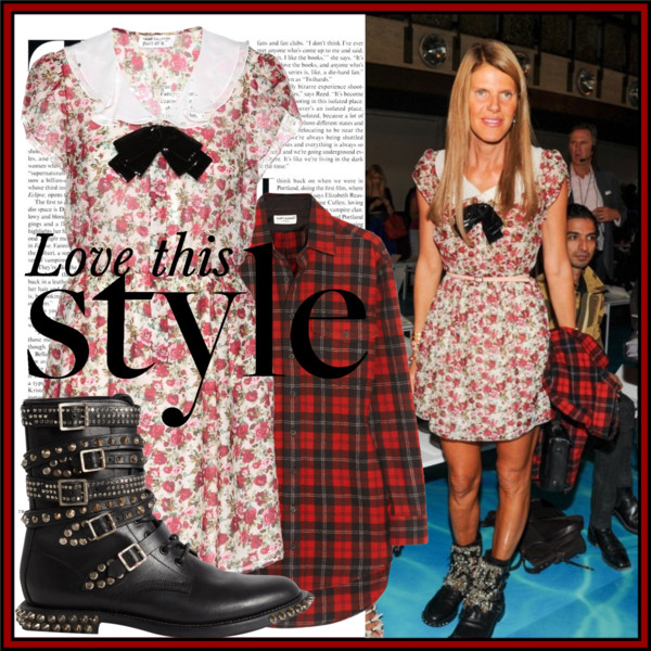 Anna dello Russo in Saint Laurent