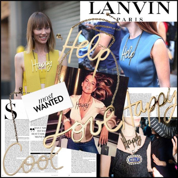 Lanvin Nameplate Necklaces F:W2014
