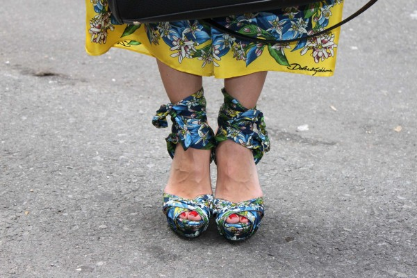 Lemon print shoes Dolce & Gabbana