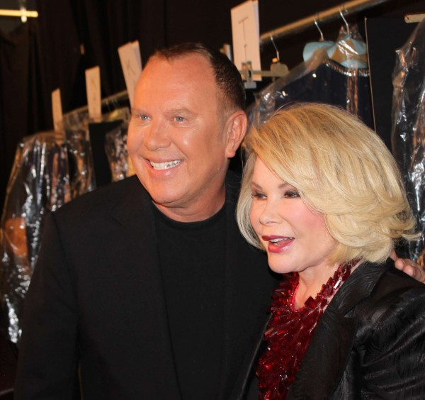 Michael Kors and Joan Rivers Backstage