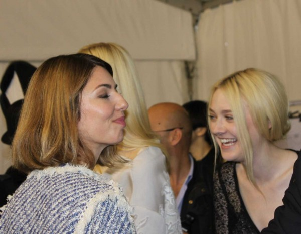 Backstage at LV - Sofia Coppola and Dakota Fanning