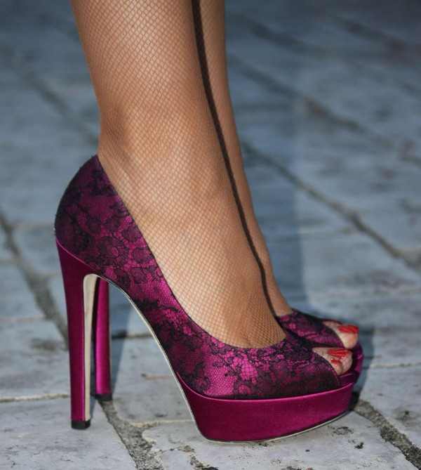 Dior Pumps pink lace