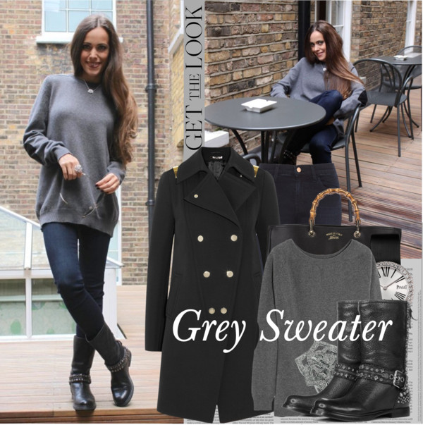 Grey Sweater Sandra Bauknecht