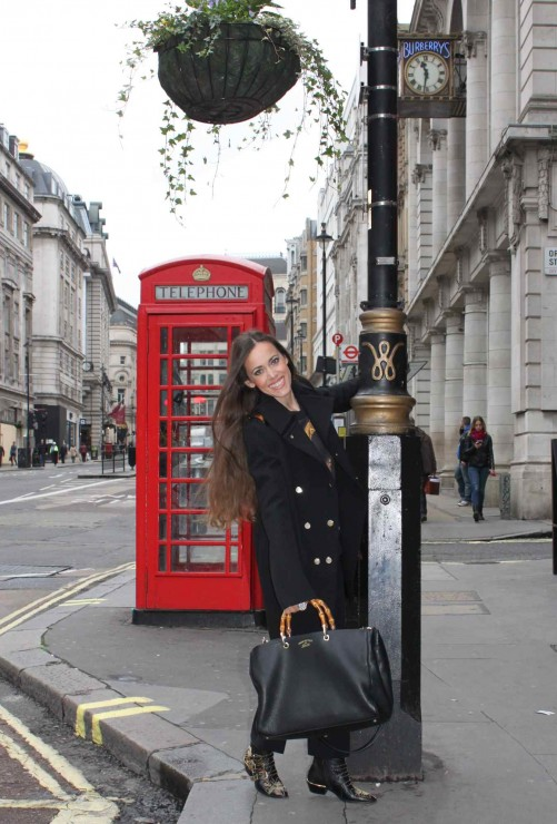 Sandra Bauknecht in London-Givenchy Coat