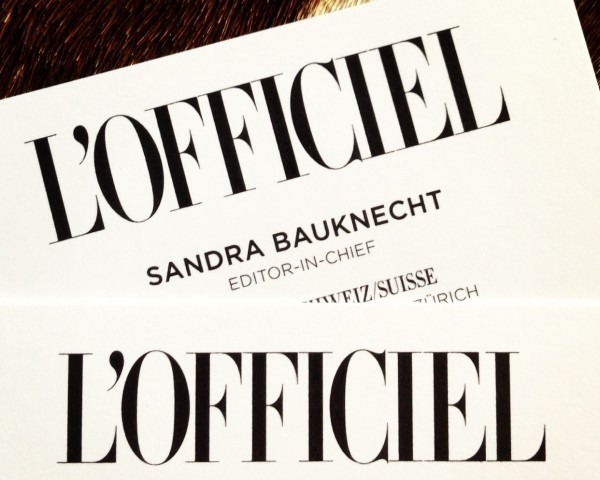 Business Cards L'Offciel Sandra Bauknecht