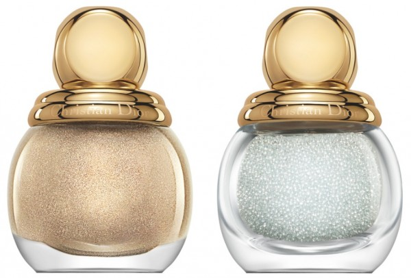 Dior Nail Polish Xmas 13-Jewel Manicure Duo- Gold Nail Lacquer Base & Crystal Pearls