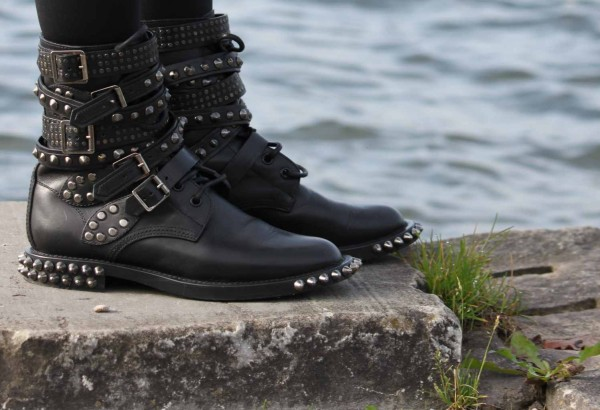 Saint Laurent Studded Boots -1