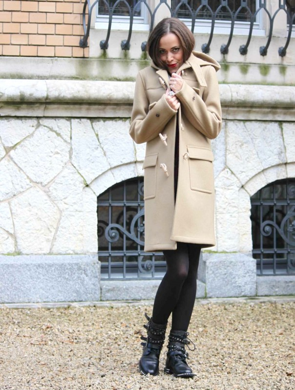 1-Sandra Bauknecht in Saint Laurent duffle Coat