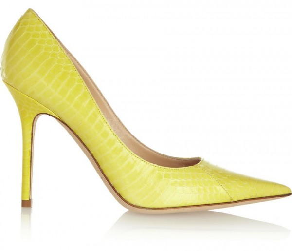 Neon Elaphe Pumps