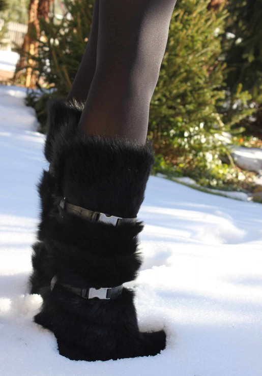 Prada fur Boots in Snow