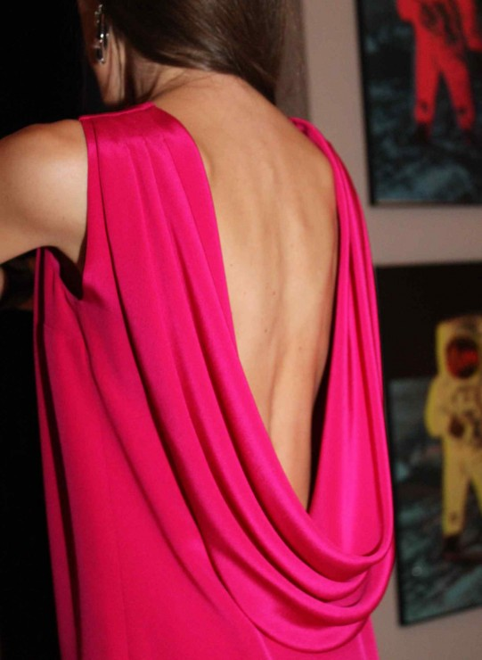 Saint Laurent Dress Pink Open Back Cruise 2014