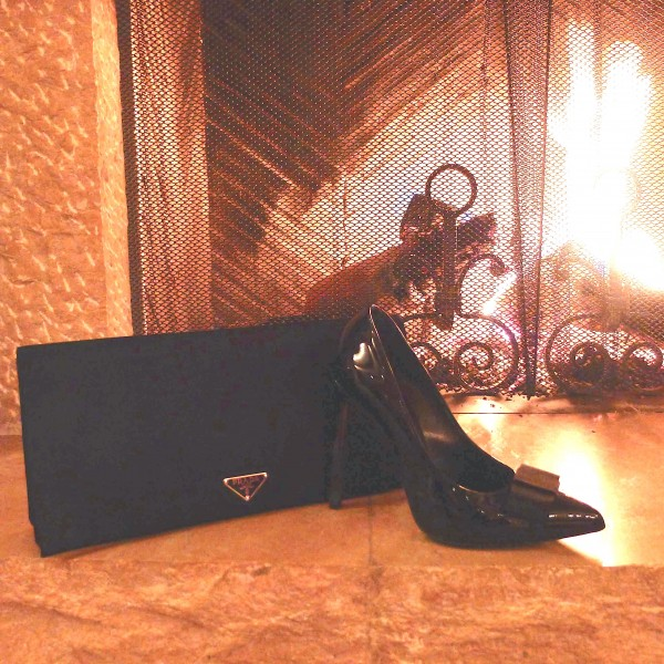 Saint Lurent Heels and Prada Clutch Gstaad