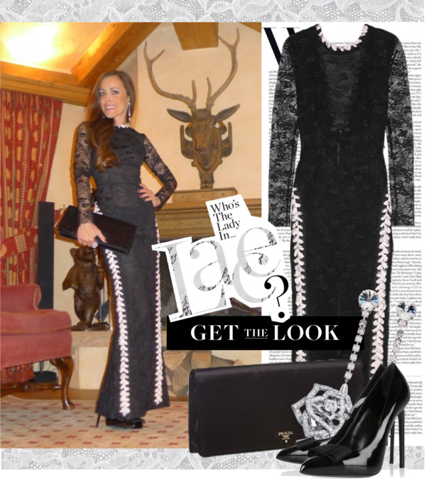 Sandra Bauknecht - Get the Look - Lace in Gstaad - Alessandra Rich