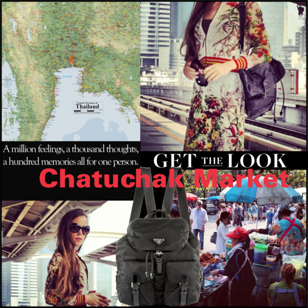 Sandra Bauknecht at Chatuchak Market in Bangkok