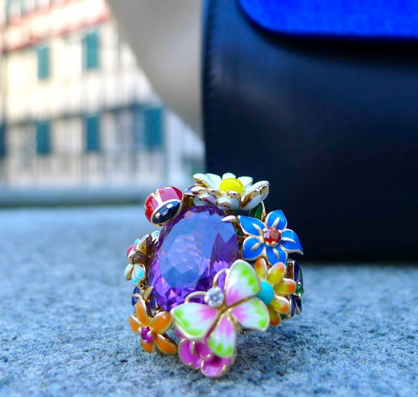 Bague Diorette with Amethyst