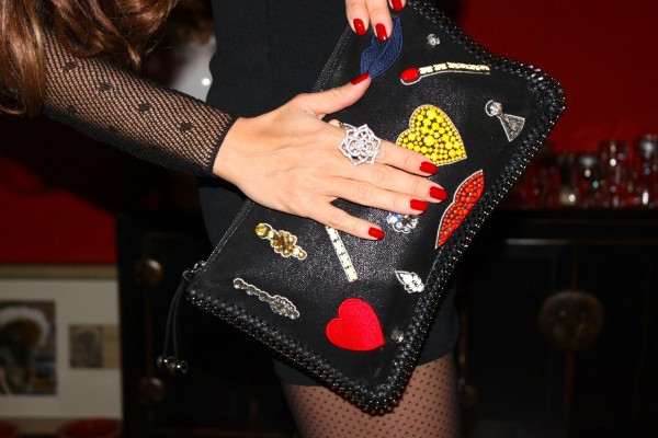 Stella Mccartney Clutch with Hearts and matches