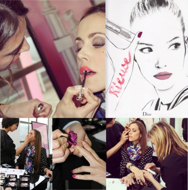 Dior Addict Event - Sandra Bauknecht - Getting makeup done