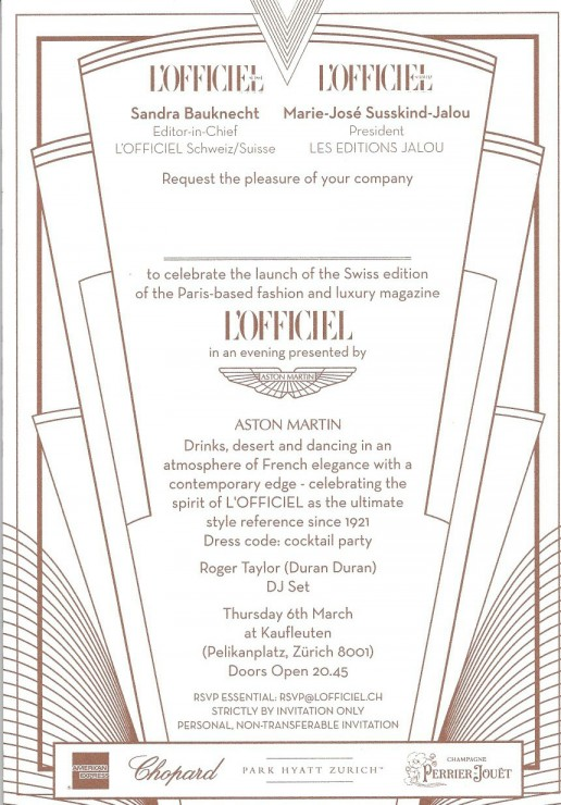 INVITE L'OFFICIEL