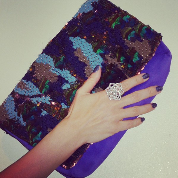 Matthew Williamson Clutch and Piaget Ring