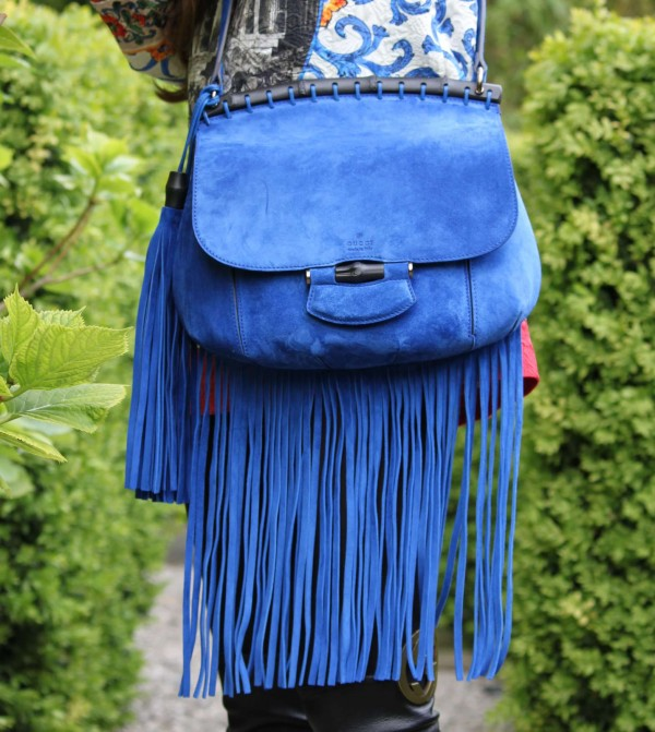 Gucci Fringed Suede Bag