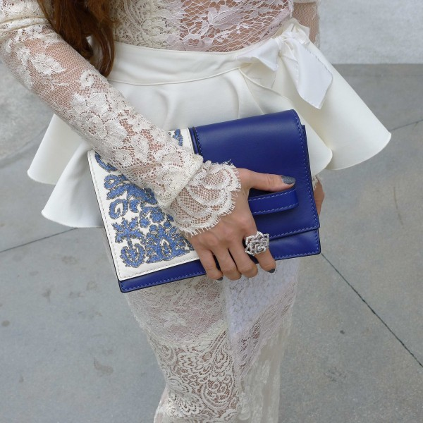 Valentino beaded clutch