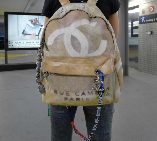 chanel graffiti backpack. chanel backpack 3 graffiti