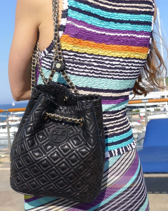 Missoni Dress and Tory Burch Backpack