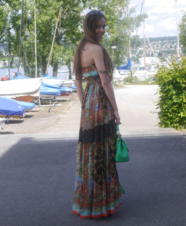 Sandra Bauknecht in Dolce & Gabbana Bohemian Dress 8