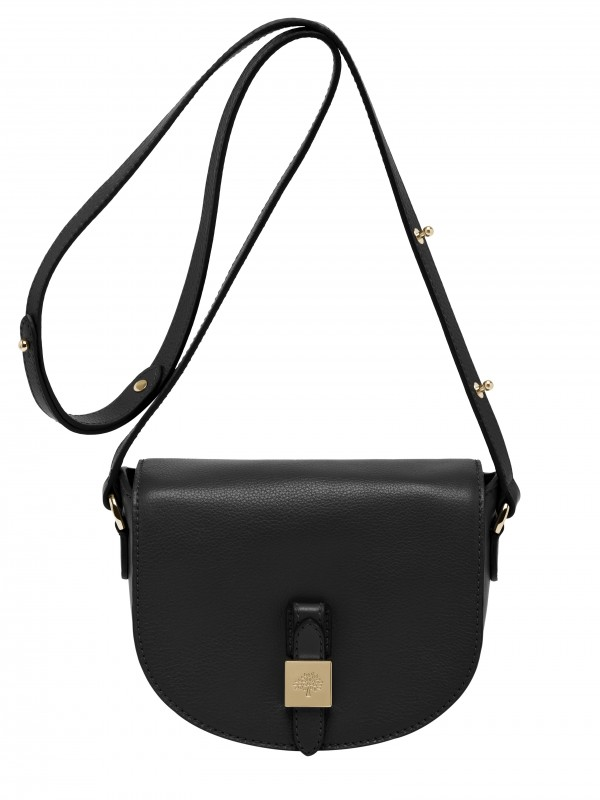Tessie Small Satchel Soft Small Grain Black