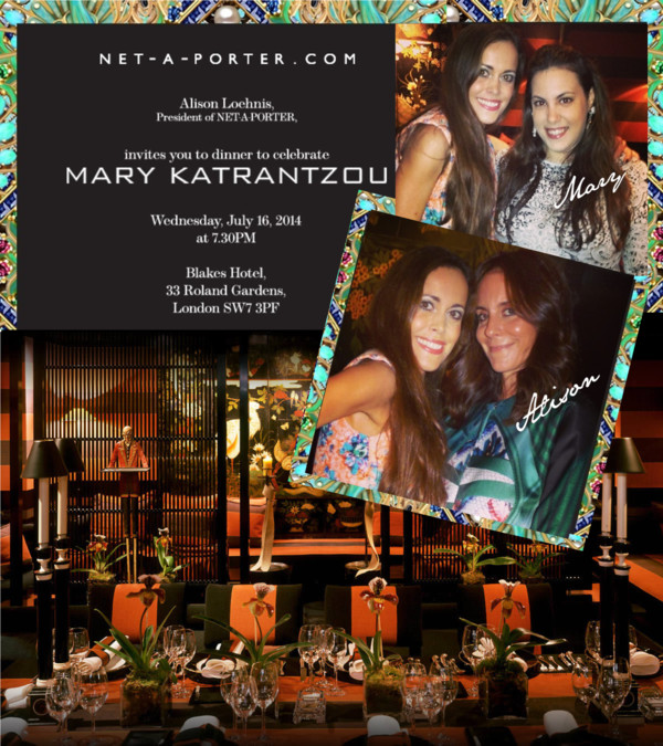 Net-a-porter Dinner with Mary Katrantzou