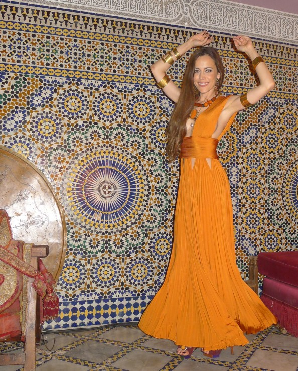 Sandra Bauknecht Dancing in Givenchy in Marrakesh