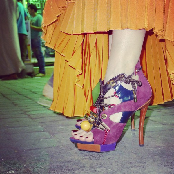 Sandra Bauknecht in Marrakesh - Louis Vuitton shoes