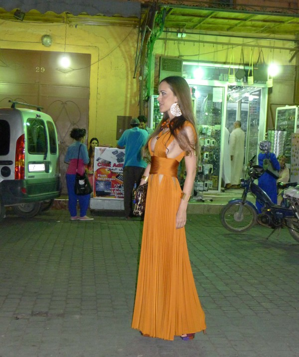 Sandra Bauknecht in Marrakesh in Givenchy 4