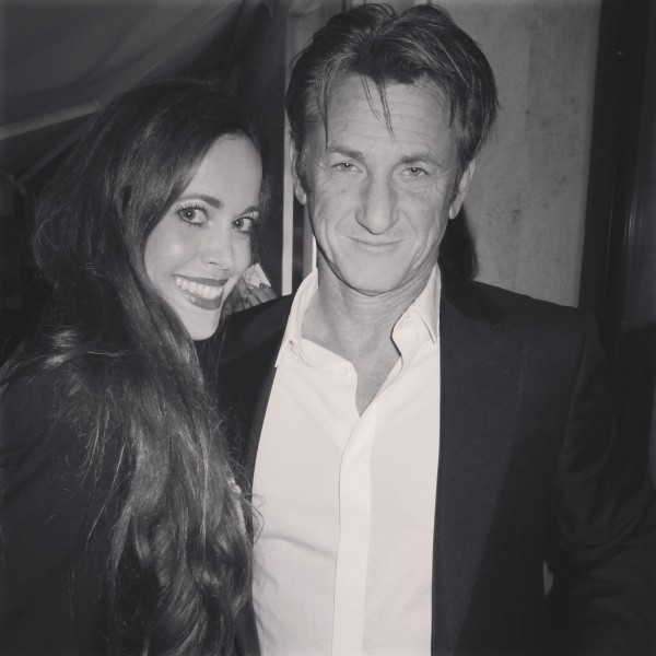 Sean Penn with Sandra Bauknecht
