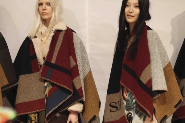 Backstage at the Burberry Prorsum Womenswear Autumn_Winter 2014 Show in Londo_001