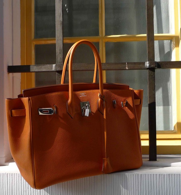 Birkin Bag by Hermès in Orange