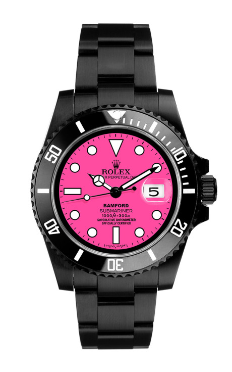Black Submariner With Neon Pink Dial