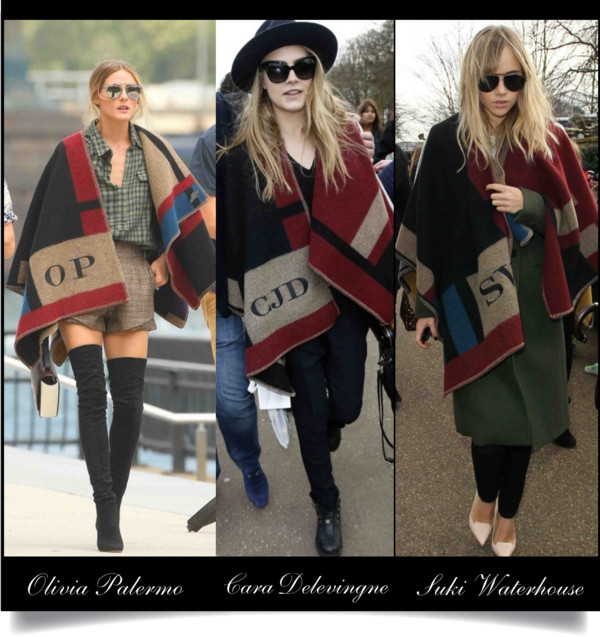 Burberry Prorsum Cape on Celebrities