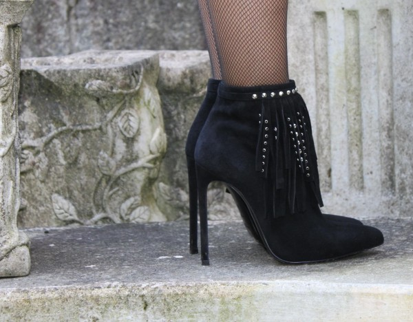 Saint Laurent Fringed Booties