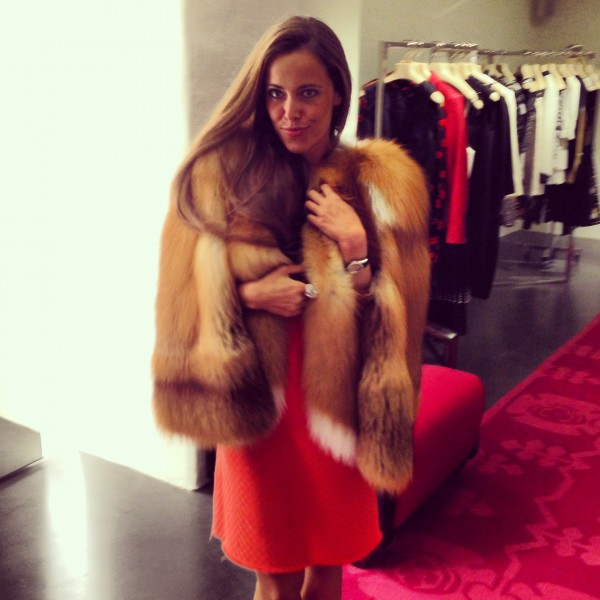 Sandra Bauknecht in Givenchy Fox Cape