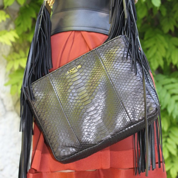 Lanvin Bag Fringes and Stella McCartney Skirt