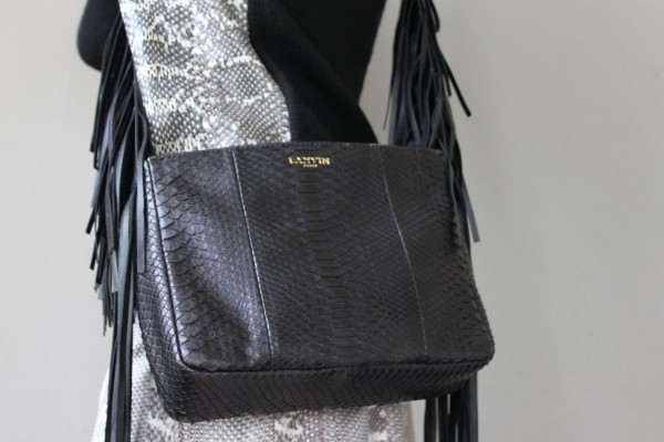 Lanvin Python Bag with Fringes
