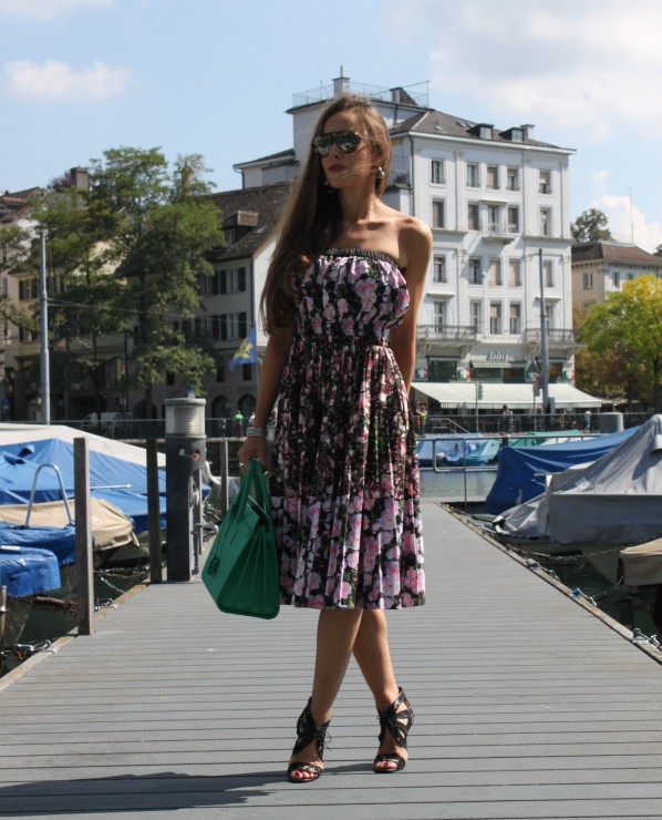 Sandra Bauknecht in Givenchy Floral Dress 3