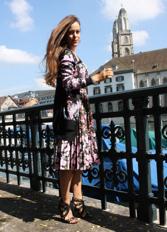 Sandra Bauknecht in Givenchy Floral Dress 8