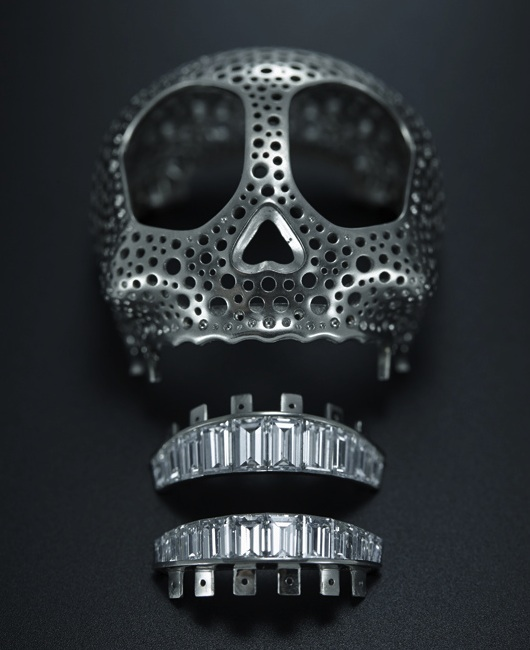 Diamond Setting Crazy Scull de Grisogono Watch