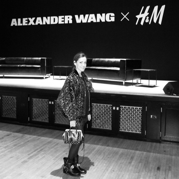 In Balenciaga at the Wang x H&M press conference-Sandra Bauknecht