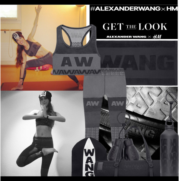 Sandra Bauknecht at Yoga in Alexander Wang x H&M
