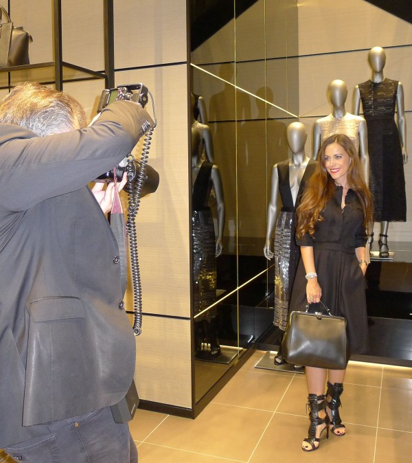Sandra Bauknecht being photographed in Boss